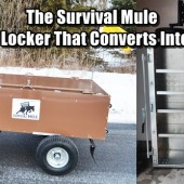 The Survival Mule - The Steel Locker That Converts Into a Trailer