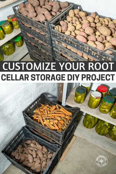 Customize Your Root Cellar Storage DIY Project - This DIY project is great for any size root cellar, I am so glad I have this chance to share this with you as I am considering building a root cellar and needed to see how to utilize the space.