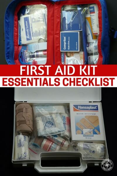 First Aid Kit Essentials Checklist - I have had several messages asking how to build a good first aid kit on the cheap, we all know we can buy the ready made kits for just over 100 bucks but why do that when you can make your own at a fraction of the price!