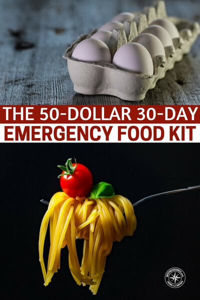 The 50-dollar 30-day Emergency Food Kit - All of the foods that are mentioned in this article store well with the exception of the raw eggs. But if you look on my website I have done a post on how to keep eggs fresh for up to 12 months.