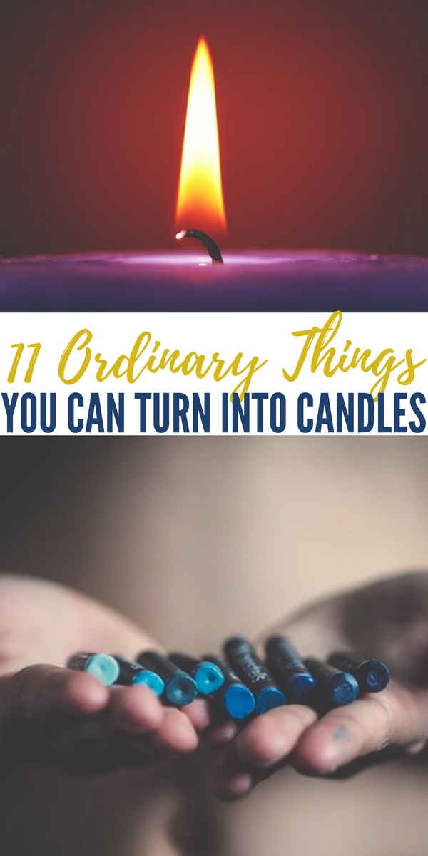 11 Ordinary Things You Can Turn Into Candles - This is another example of how skills are better than supplies. If you know how, you can walk into any kitchen and make a candle out of ordinary household items.