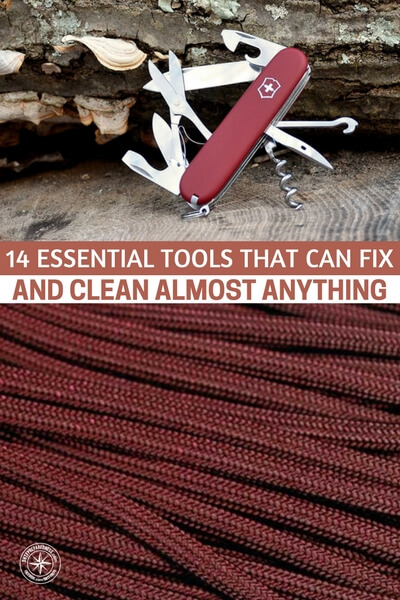 14 Essential Tools That Can Fix and Clean Almost Anything - If you bought one of everything on the list, generally speaking you would spend around $50 and that's with $20 being spent on the multi-tool! Consider all the different ways you could use dental floss or a can of compressed air for to clean and fix things around the house. Sure is a lot cheaper than the chemicals!
