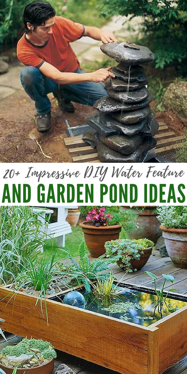 20 impressive diy water feature and garden pond ideas there is something awesome about - Diy Garden Pond Ideas