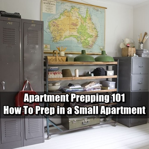 Apartment Prepping 101: How to Prep in a Small Apartment - People who live in small apartments can prep, all it takes is some creativity and effort. Apartment preppers have two main things to worry about: A) Making space for all their supplies, and B) Protecting those supplies.