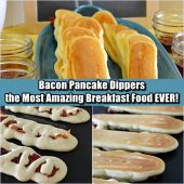 Bacon Pancake Dippers - the Most Amazing Breakfast Food EVER