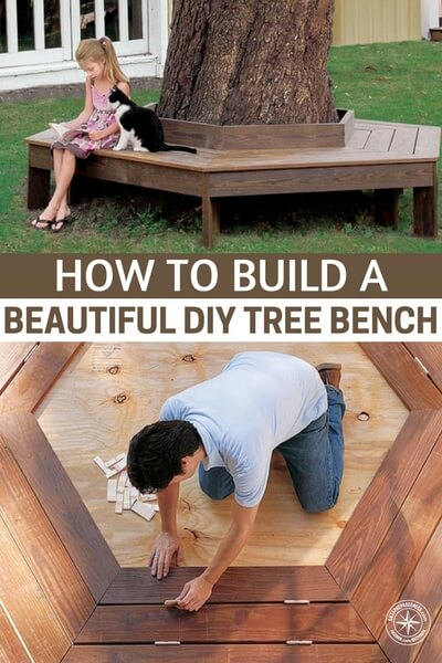 "How To Build A Beautiful DIY Tree Bench - I got to thinking about it more and instead of buying lumber at ridiculous prices, I could use pallet wood and wood from other sources for FREE. So sure enough, I checked craigslist, and boom, I found the ad ""FREE WOOD, COLLECTION ONLY"". So this project could potentially cost a lot less that you think maybe even $0 if you already have the nails and stain."