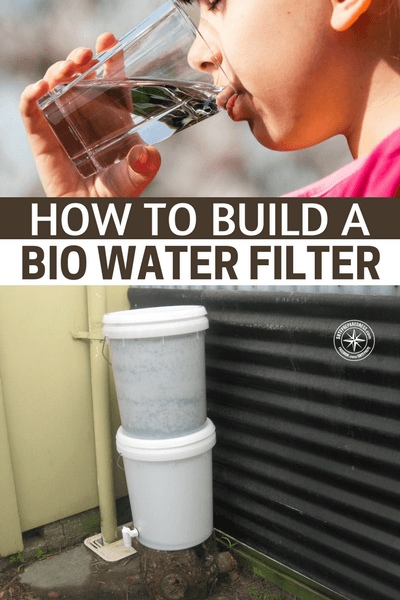 How To Build A Bio Water Filter - This is a great DIY option to learn about in the event SHTF and you need a clean water filtration system larger than a Lifestraw. As you can see by the picture the water filters through three separate layers, gravel, sand and activated charcoal. The gravel removes the large pieces of debris, the sand removes the smaller particulate matter and finally the activated charcoal removes bacteria and some chemicals.  However this system does not completely remove 100% of everything harmful.