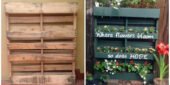 How To Build Your Own Vertical Garden with a Pallet - Making a garden out of a pallet is genius. Pallets are everywhere, you should be able to find one for free at a local store or on Craigslist.