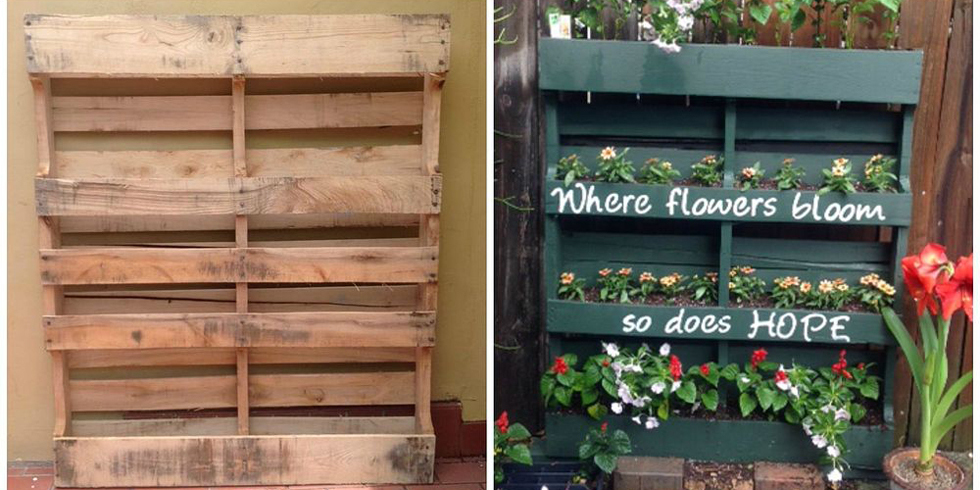 How to build your own vertical garden with a pallet for Macetero vertical pallet