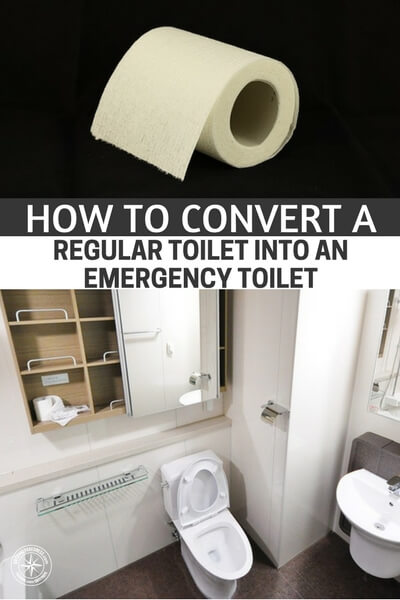 How To Convert a Regular Toilet Into An Emergency Toilet - I am sharing this as I think this could just make a personal or full blown disaster have some normality. Hygiene will be paramount to survival along side food and water... Take advantage of having a toilet and keep the bucket at bay for a while!