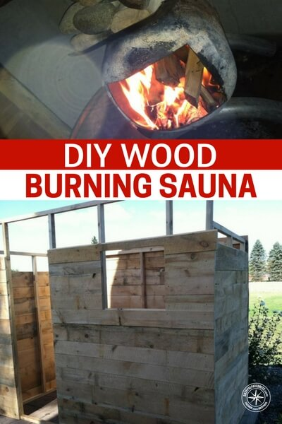 DIY Wood Burning Sauna - I would even go as to search forums and online salvage websites for free wood to build the hut, even a good old pallet or two would work well.