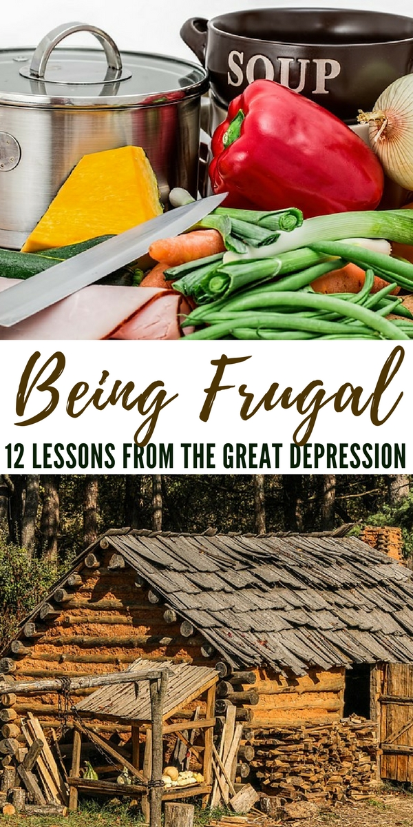 Being Frugal - 12 Lessons from the Great Depression - Being frugal doesn't mean you live in squalor, though many did during that time. In the world we live in, it's actually much easier to get the things you need or find 'trash' that can be repurposed to serve your needs. Just because something is used doesn't mean it is somehow 'less than' good enough.
