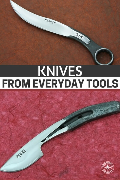 Knives From Everyday Tools - If you are in a pinch and want to start making your own knives this could be for you. The metals that tools are made from is very strong and resistant to rust so will pretty much always make a good cutting tool.