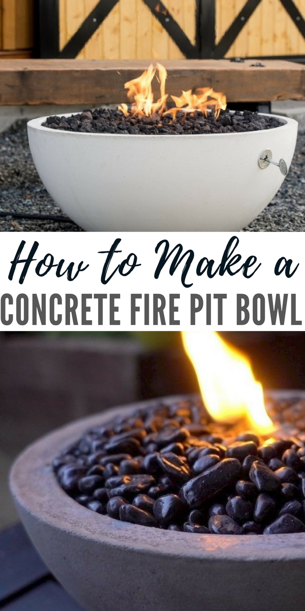 Concrete Fire Bowl Natural Gas
