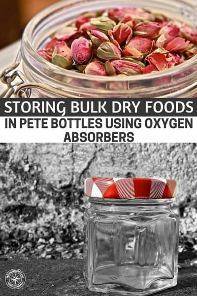 Storing Bulk Dry Foods In PETE Bottles Using Oxygen Absorbers - PETE bottles are food grade. That being said, this method of food storage should (in my own opinion) be used for short to medium term storage.