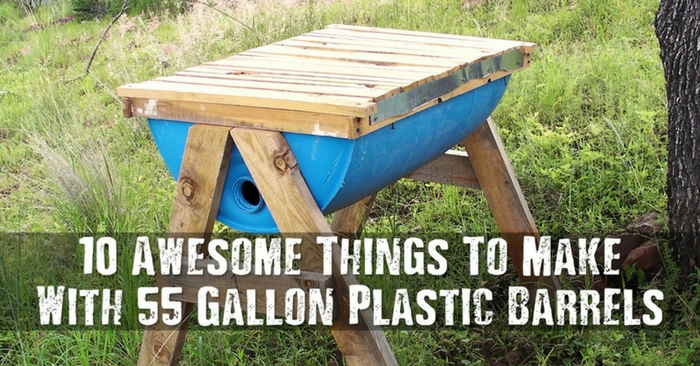 10 Awesome Things To Make With 55 Gallon Plastic Barrels — Now that Spring is here I wanted to go hunting for some fun upcycling projects for myself. I came across a lot of new and interesting projects, but none as awesome as this one I am sharing with you all today.