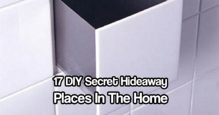 "17 DIY Secret hideaway Places In The Home You Never Thought Of — Hiding things or ""squirreling"" as I like to call it should be high up on your list of to do's … See 17 awesome hiding places not many burglars have thought of looking!"
