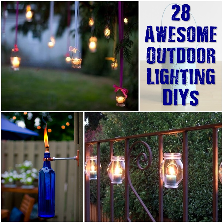 28 Awesome Outdoor Lighting DIYs — Are you looking to brighten up your garden this summer with light? Check out these great DIY projects and have the best garden on your block!
