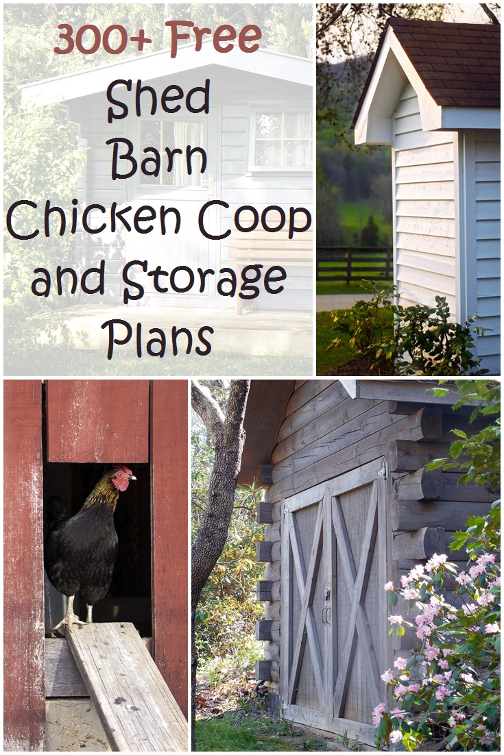 300 Shed Barn Chicken Coop And Storage Plans Plus More