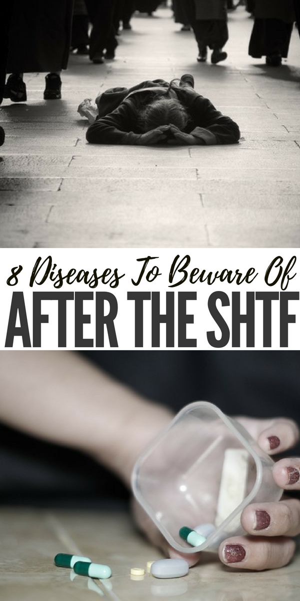 8 Diseases To Beware Of After The SHTF - When people think about what the world will be like after the SHTF, they usually imagine power outages, food shortages, civil unrest, and so forth. But there's another serious danger that people tend to forget about: diseases.