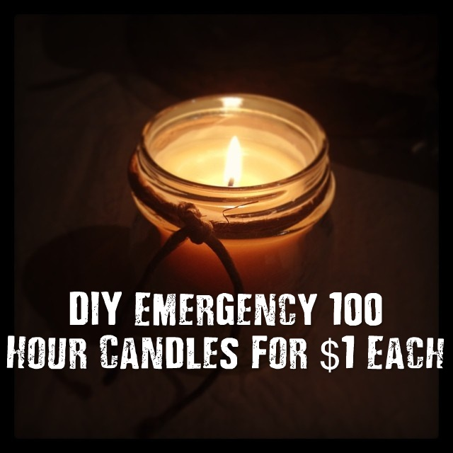 Diy Emergency 100 Hour Candles For 1 Each Shtf