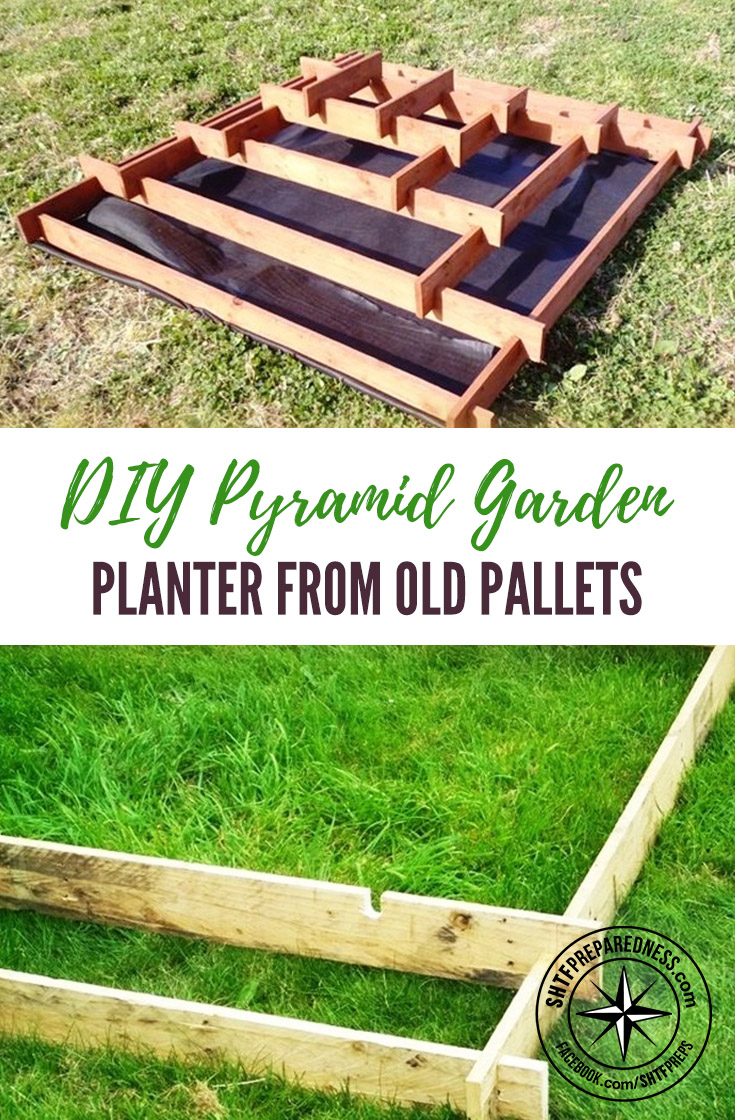 DIY Pyramid Garden Planter From Old Pallets — This is a great spring project that can transform the look of your garden. Check out Craigslist or your local shops to see if they have any pallets. I love this little project.