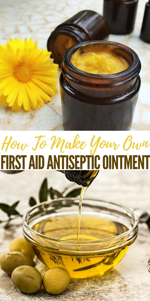 How To Make Your Own First Aid Antiseptic Ointment - This homemade antiseptic ointment is packed with germ-killing properties that will help treat those everyday minor cuts, scraps, and abrasions you might have, and best of all, it's really easy to make.