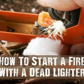 How To Start a Fire With a Dead Lighter