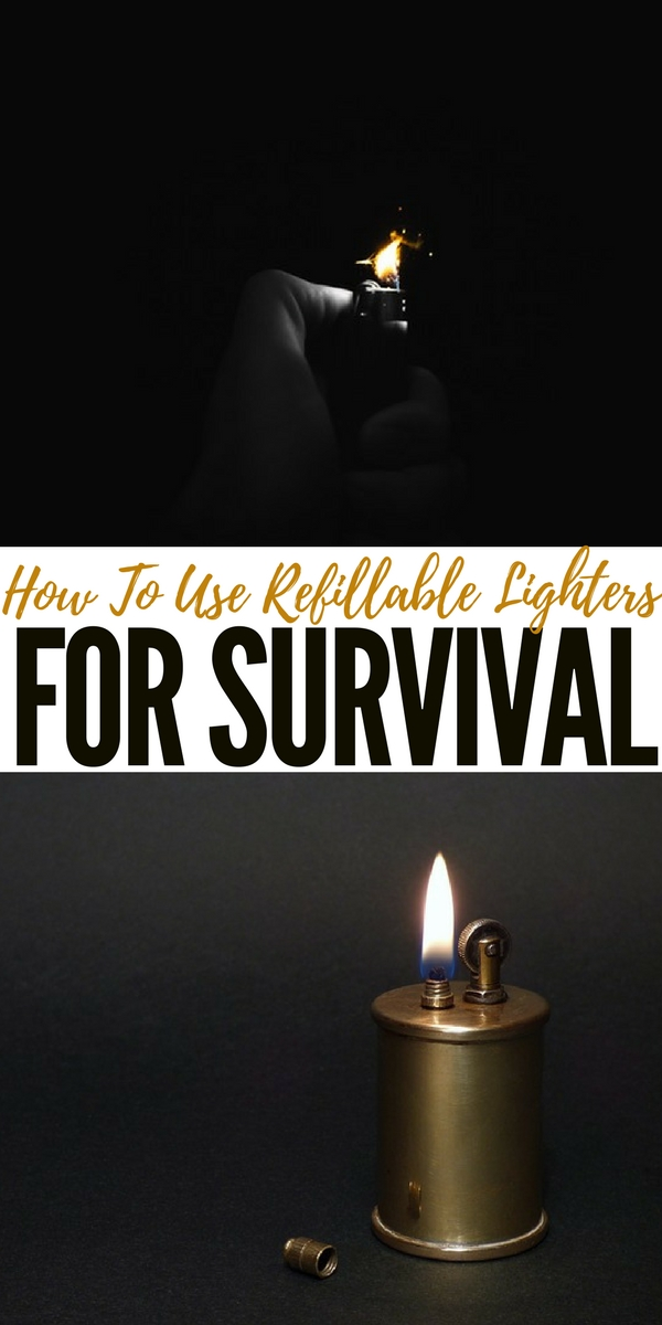 How To Use Refillable Lighters for Survival - A lot of preppers have numerous disposable lighters stashed as a method for starting fires after a SHTF event. But, there is a distinct advantage to refillable lighters. Learn about the ins and outs of how Zippo and butane lighters are made, including the different fuels and potential substitutes.
