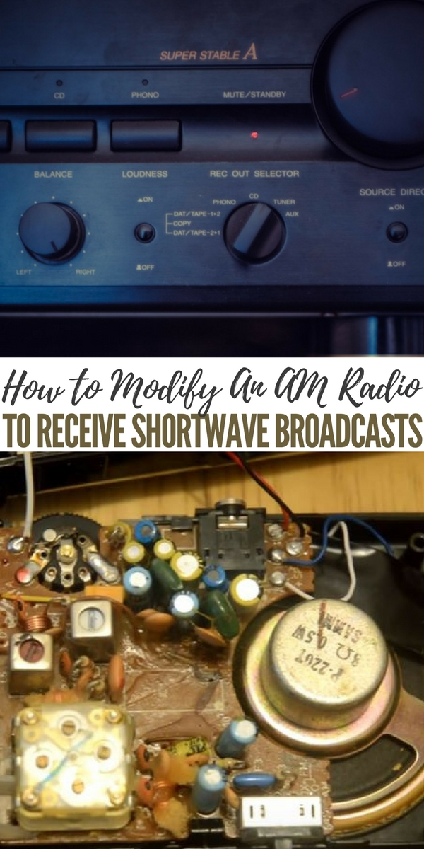 How to Modify An AM Radio To Receive Shortwave Broadcasts - Shortwave frequencies bounce off of the ionosphere and return to earth halfway around the world. It is easy to receive broadcasts from another continent; depending on conditions, time of day, signal strength, and target area for the broadcast.