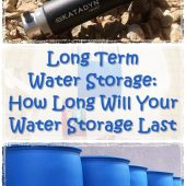 Long Term Water Storage How Long Will Your Water Storage Last - How much water do you think you use on a daily basis? Depending on your personal hygiene preferences: 5 gallons? 10 gallons? 20 gallons? Do you have a means to filter your water?