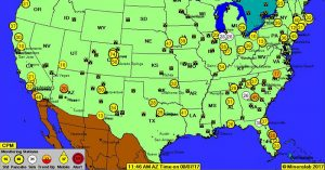 How To Monitor Real Time U.S. Radiation Levels Online - These maps are just to give you a basic idea of the environment in the U.S. if you really want to invest in radiation monitoring in case of a disaster, dirty bomb attack, or full scale nuclear war, then you need to buy a personal radiation detector or Geiger counter.