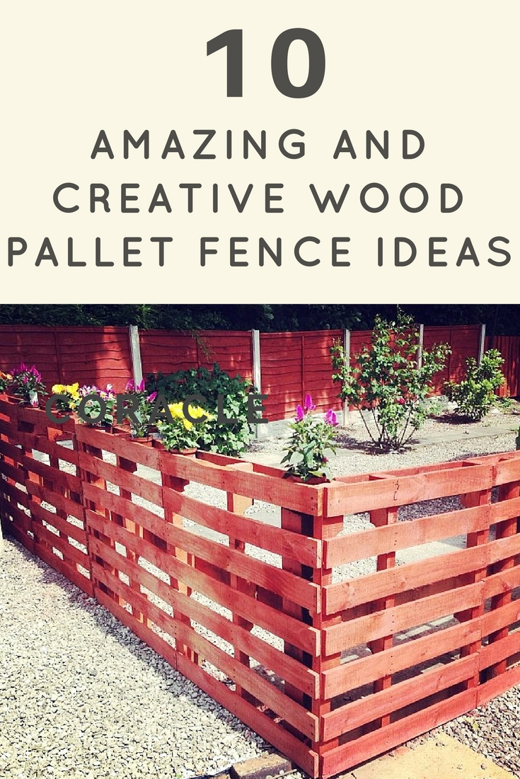 10 amazing and creative wood pallet fence ideas for Creative pallet