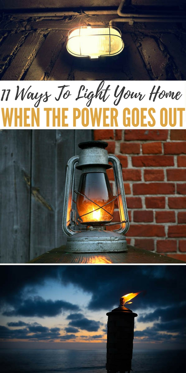 When the power goes out, the only lights most people have are candles, flashlights, and perhaps an oil lamp.
