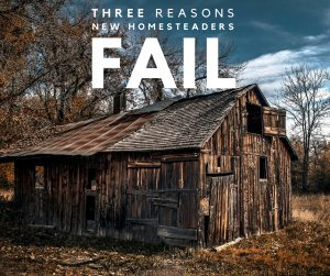 "3 Reasons New Homesteaders Fail - Failure can come in all forms and isn't always a bad thing. If you think about it, all of the things we use that makes our lives ""easier"" came about through a lot of trial and error (aka failure). Homestead failure, on the other hand, can have some pretty devastating effects that affect not only the homestead itself, but your entire life and in all areas."
