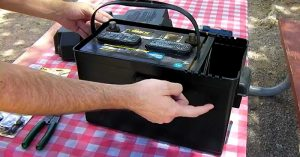 DIY Portable Power Pack For $25 - This is a great DIY project to make. This would be very handy if the power went out and even for tailgating and camping. In this tutorial, they use a standard car battery, tho I would switch that out for a deep cycle 12v battery and then hook up a solar panel to it and recharge the battery when needed.
