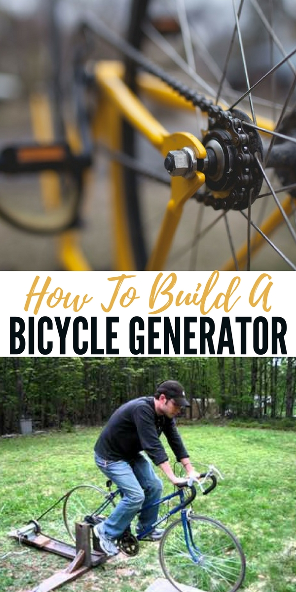 How To Build A Bicycle Generator - How To Build A Bicycle Generator pin - Having a manual method of producing power is a great backup in case there is no wind or sun to charge your off the grid batteries in an emergency situation! Get between 75 - 150 watts.