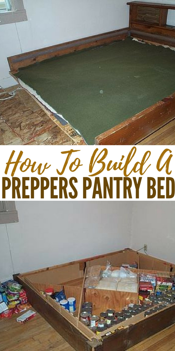 how to build a preppers pantry bed. Black Bedroom Furniture Sets. Home Design Ideas
