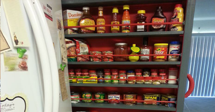 how to build canned food storage