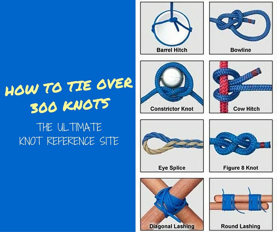 How To Tie Over 300 Knots : The Ultimate Knot Reference Site - This is the ultimate reference site for how to tie any knot you can think of (and some you can't). It's better to know a knot and not need it, than need a knot and not know it.