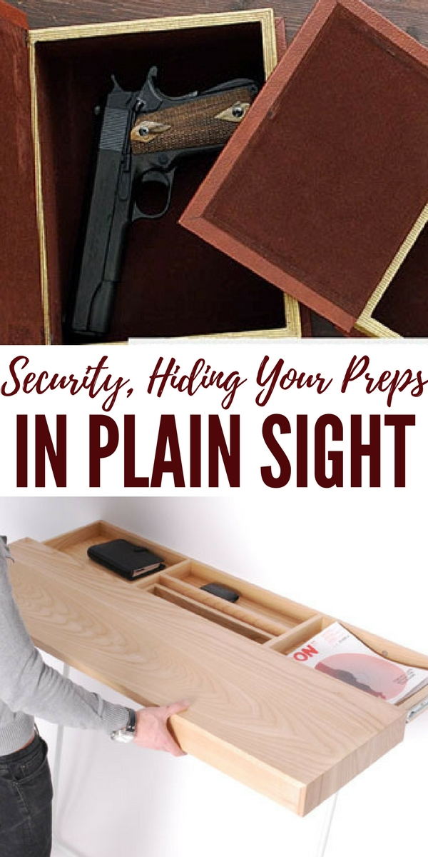 Security, Hiding Your Preps It In Plain Sight - Home security is a critical aspect of preparedness. Your preps will be all for naught if someone steals them. If a thief were to break into your house, how easy would it be for them to find your valuables?