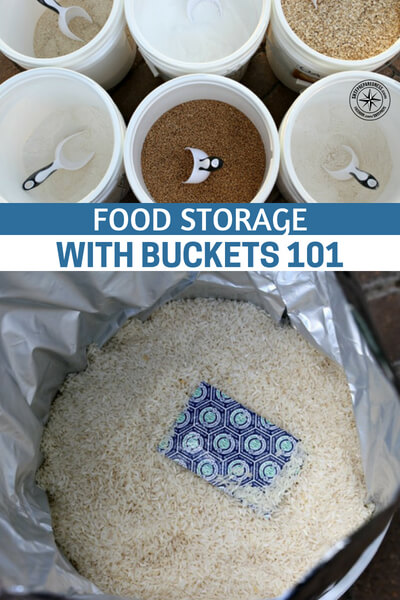 Food Storage With Buckets 101 - Something that anyone who is serious about getting food storage needs to think about, because if you're investing your time and money into food, you want to make sure you're storing it properly.