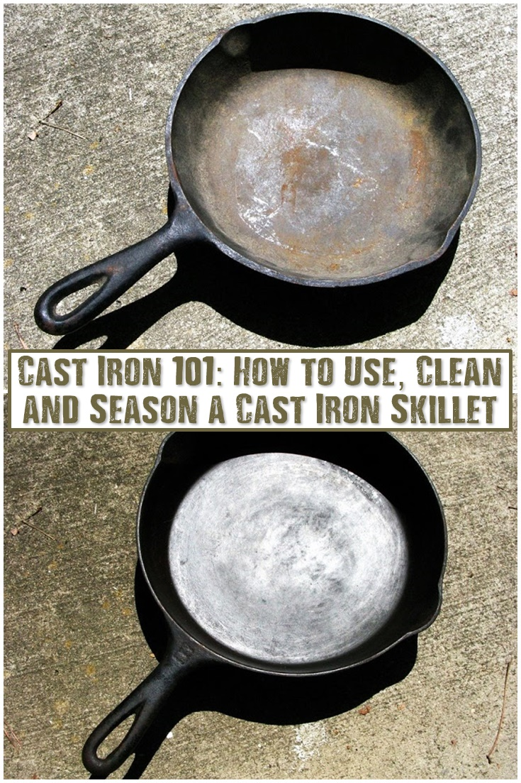 cast iron 101 how to use clean and season a cast iron skillet shtf prepping homesteading. Black Bedroom Furniture Sets. Home Design Ideas