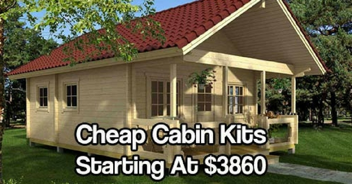 Cheap cabin kits starting at 3860 for Cottage cabins to build affordable
