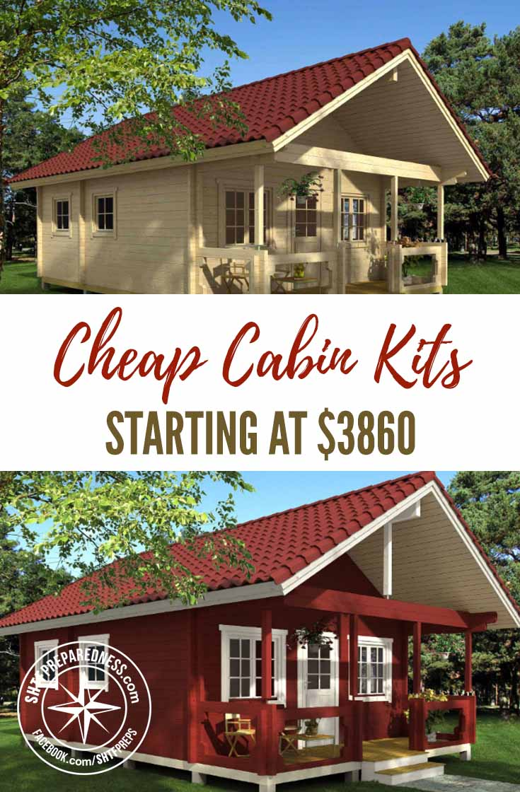 Cheap Cabin Kits Starting At $3860 — Many of us pine after building or buying a cabin to live in or to have as a nice weekend getaway. (no pun intended with the many of us pine after text lol) I personally would give a body part to own a cabin somewhere remote and off the grid.