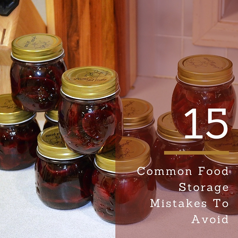 Common Food Storage Mistakes To Avoid - Common food storage for most Americans is about a week's worth of food. For the prepper though, common food storage means something else entirely. A week's worth of food is what they tend to have in their cars for emergencies!