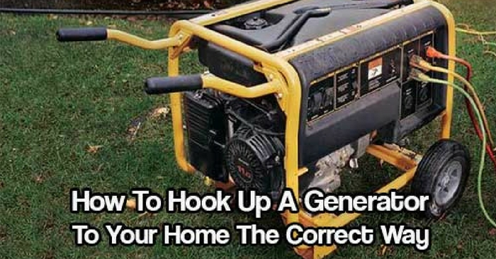 How To Hook Up A Generator To Your Home The Correct Way — Winter is coming. Don't be without power during an outage. Check out how to hook up a generator to your house so all you need to do is click a switch and you're whole house will have power.