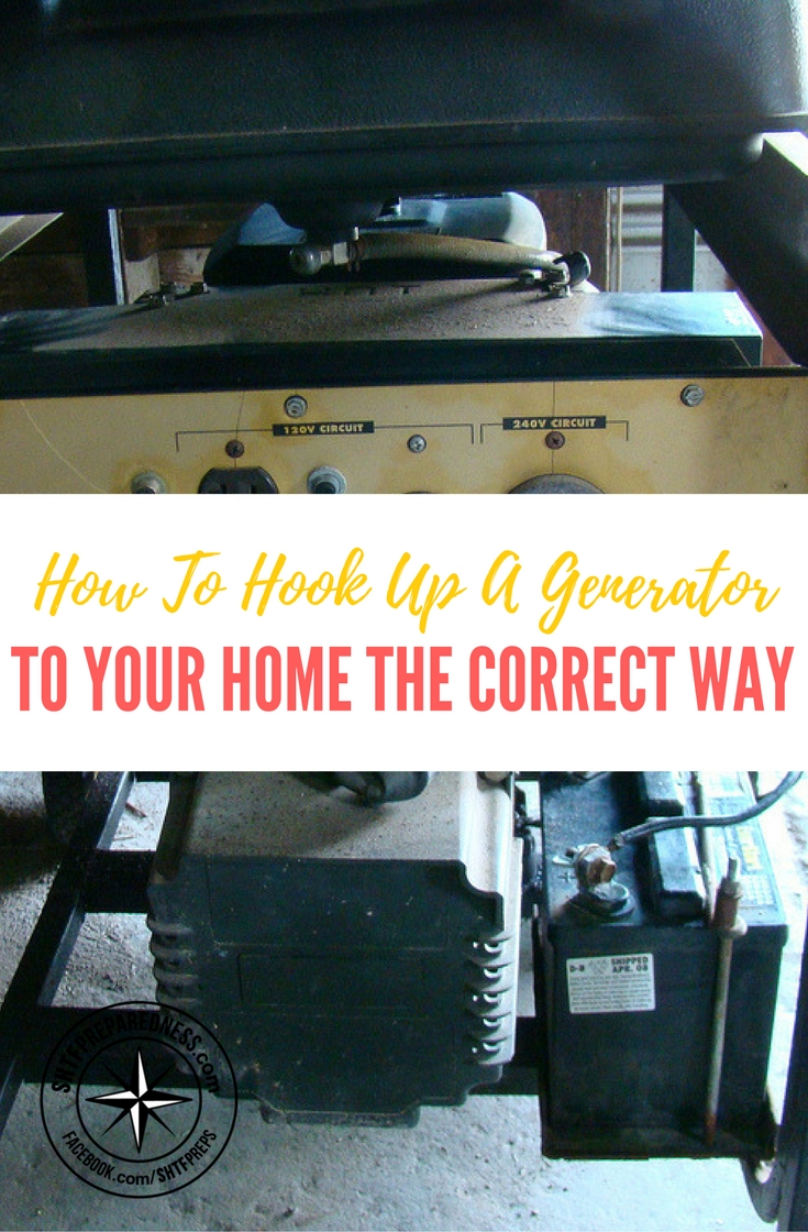 hook up generator to my house If your appliance has a plug, you can connect it to a portable generator, as long as the generator supplies enough electricity to power it you can even plug in many appliances at once, but collectively, they shouldn't draw more power than the generator can supply.