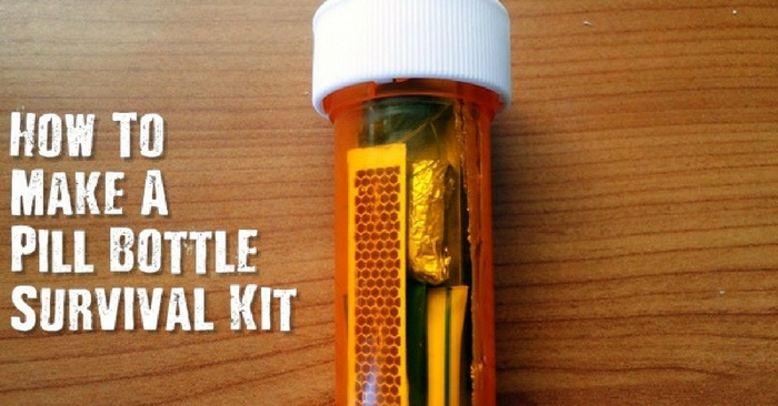 How to make a pill bottle survival kit for How to draw a pill