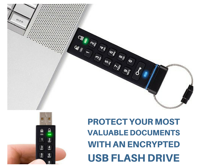 Protect Your Most Valuable Documents with an Encrypted USB Flash Drive - An encrypted flash drive is a must have for any serious prepper; put this in your emergency binder and keep scanned copies of your most important documents secure from prying eyes.
